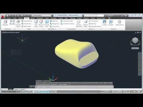 Create and Modify 3D Meshes: AutoCAD 2013