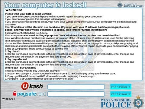 Remove West Yorkshire Police Ransomware - Decrypt Locked Files by Britec