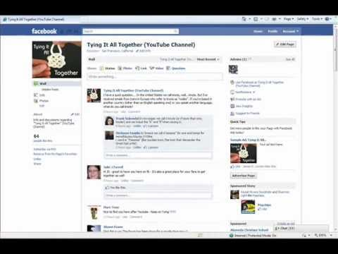 """Join the """"Tying It All Together"""" Facebook Fan Page!"""