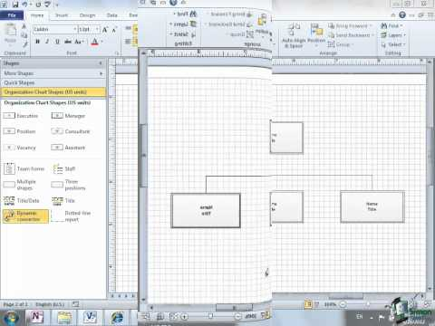 Microsoft Visio 2010 Training Tutorial -- Creating a Diagram - Part 3