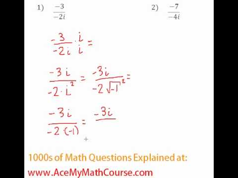Complex Numbers - Rationalizing #1-2