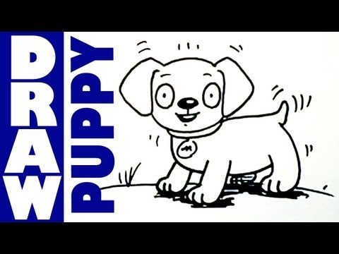 How to draw a cute little puppy