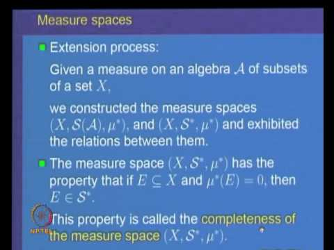 Mod-03 Lec-11 Measurable sets