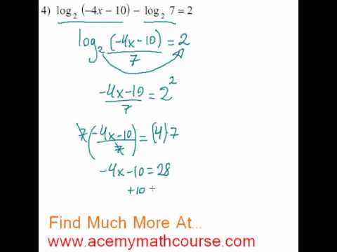 Logarithms - Log Equation #4