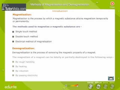 Magnetisation and Demagnetisation