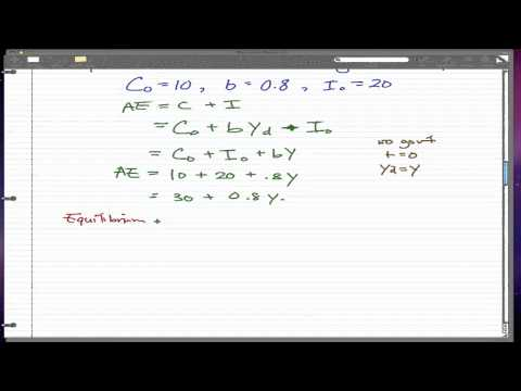 Macroeconomics - 15: Example of Equilibrium (no trade, no govt)