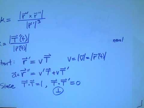 arc length curvature acceleration 5