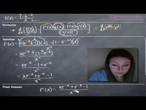 Derivatives of Exponentials (e^x) Example 3