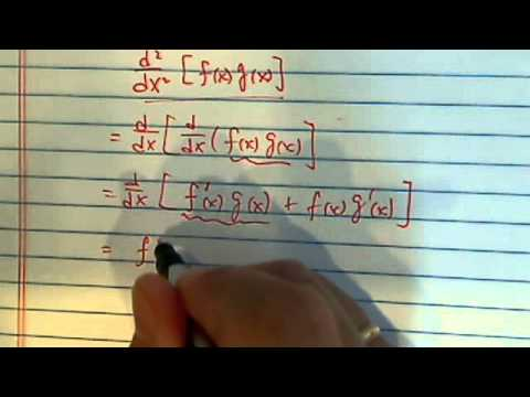 how to use product rule to find 2nd derivative