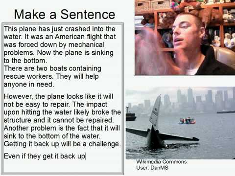 Learn English Make a Sentence and Pronunciation Lesson 119: Plane Crash