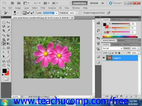 Photoshop CS5 Tutorial The Background Eraser Tool Adobe Training Lesson 5.8