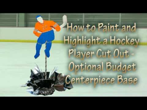How to Highlight a DIY Hockey Player Cut Out for your Theme Centerpiece