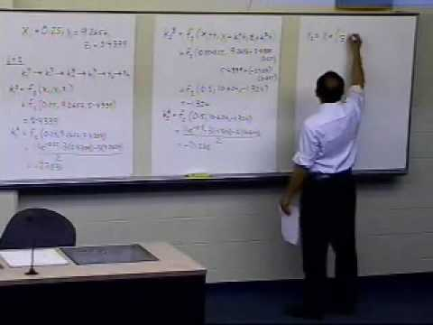 Higher Order Ordinary Differential Equations: Example: Heun's Method: Part 3 of 3