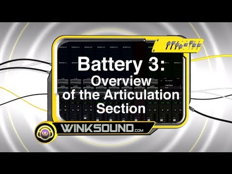 Native Instruments Battery 3: Overview of the Articulation Section | WinkSound
