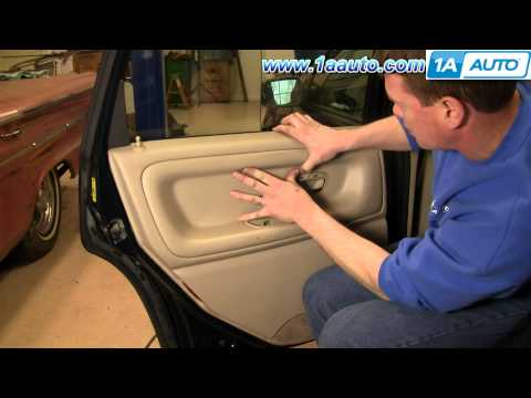 How To Install Replace Remove Rear Door Panel Volvo S70 98-00 1AAuto.com