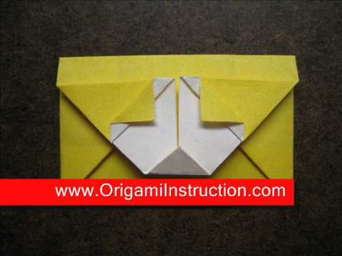 How to Fold Origami Dog Envelope - OrigamiInstruction.com