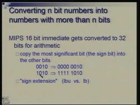Lecture -11 Binary Arithmetic, ALU Design