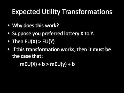 Game Theory 101: Expected Utility Transformations