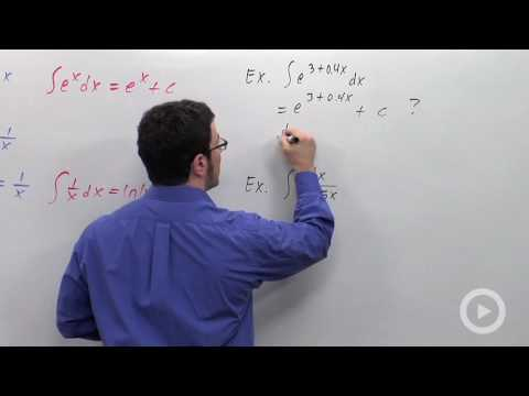 Substitutions Involving e^x or ln(x)
