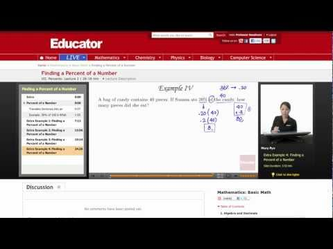 Basic Math: Finding a Percent of a Number