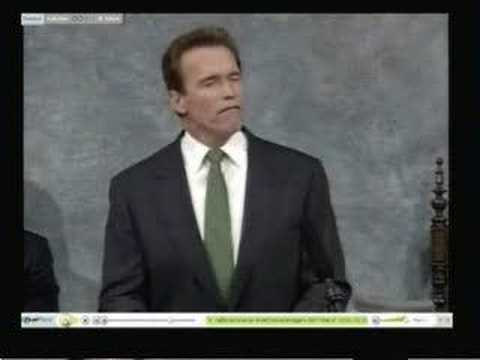 Gov. Schwarzenegger on Universal Health Insurance