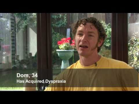 Acquired dyspraxia: Dom's story