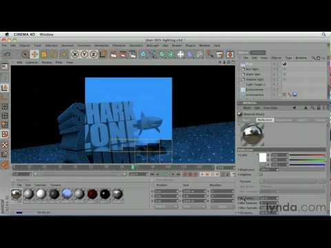 CINEMA 4D: How to add a reflective effect | lynda.com tutorial