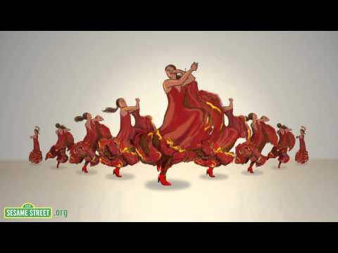 Sesame Street: 9 Spanish Dancers