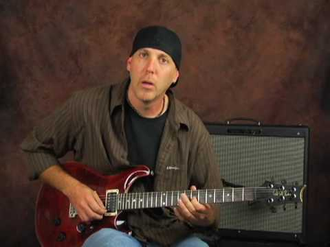 Learn lead rock guitar across neck scale links & jam track