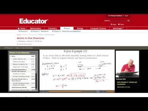 Physics: Velocity and Acceleration