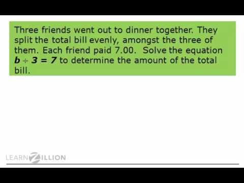 Solve multiplication and division word problems by identifying key vocabulary (part 2) - 6.EE.7