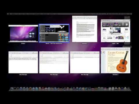 Exposé & Dock Exposé in Mac OSX Snow Leopard (under 2:00)