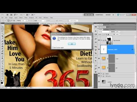 Create a high-resolution PDF file in Photoshop | lynda.com tutorial
