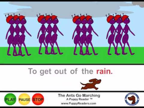 The Ants Go Marching Animated Song for Kids