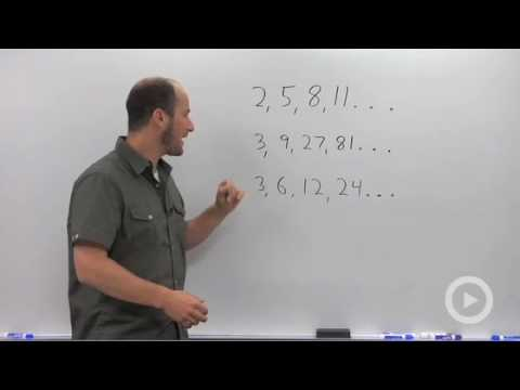 Algebra 2 - Introduction to Sequences