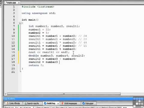 C++ Programming Arithmetic Operators Tutorial