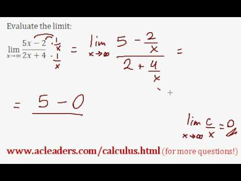 LIMITS - Evaluating the limit of an expression as 'x' approaches infinity - EASY!!! (pt. 2)