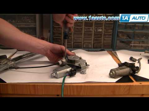 How to Install Replace Rear Power Window Regulator Nissan Altima 98-01 1AAuto.com
