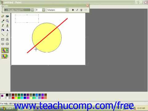 Windows XP Tutorial Adding Text Microsoft Training Lesson 5.3