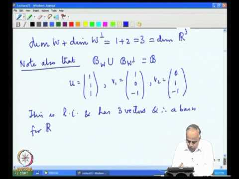 Mod-07 Lec-25 Inner Product and Orthogonality Part 4
