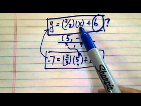 finding the line equation with a slope and point?...