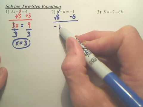 Algebra 1   Solving 2step Equations