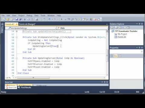 Visual Basic Tutorial - 183 - FTP Downloader Part 6   Changing The Server