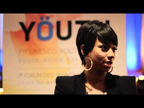 Monique Coleman talks about her work with youth bloggers at the UNESCO Youth Forum