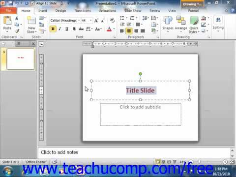 PowerPoint 2010 Tutorial Keyboard Shortcuts Microsoft Training Lesson 1.13