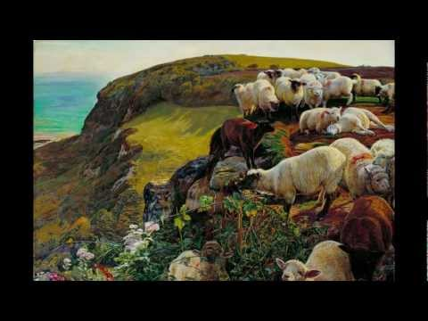 William Holman Hunt, Our English Coasts ('Strayed Sheep'), 1852