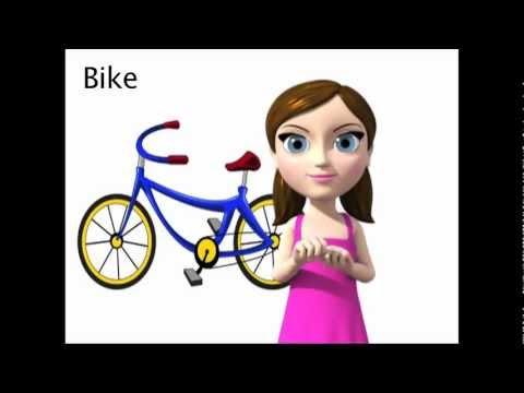 Bike - ASL sign for Bike - animated