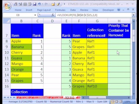 Excel Magic Trick #131: Ranking w MIN IF OFFSET