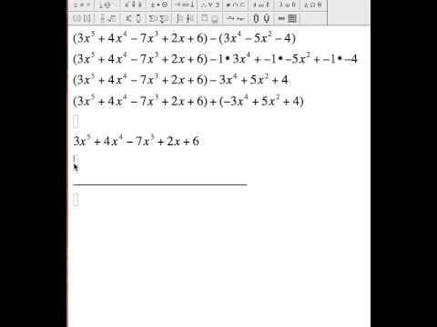 polynomial subtraction