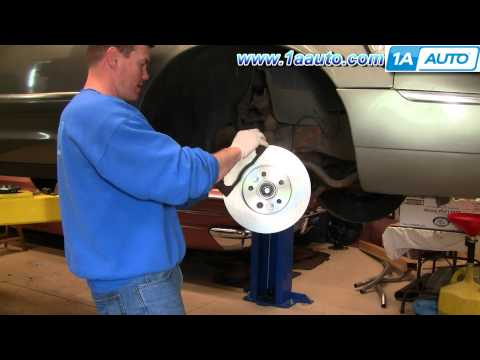 How To Install Replace Front Disc Brakes Ford Crown Victoria Mercury Grand Marquis 98-02 1AAuto.com